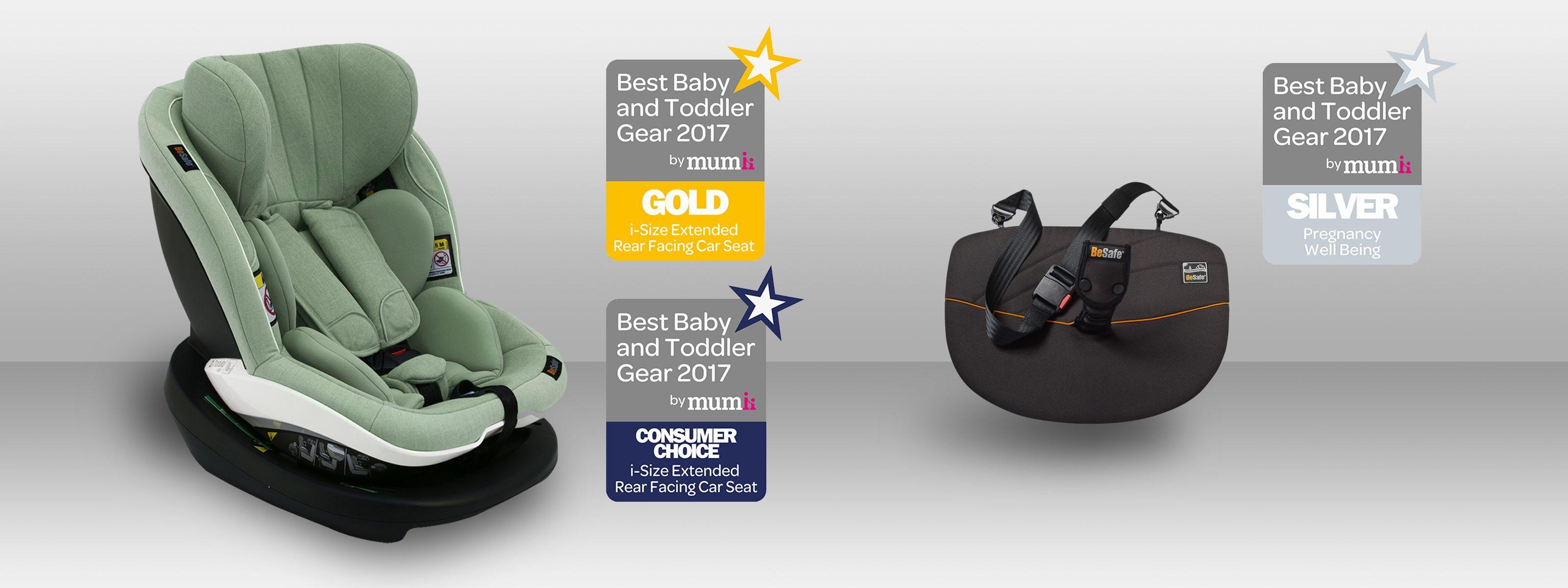 BeSafe utnevnt til beste bilbarnestol-merke 2018